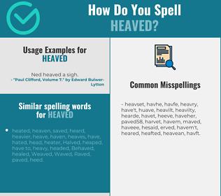 Correct spelling for heaved