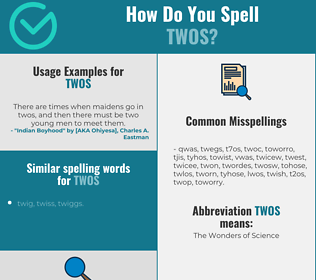 Correct spelling for twos