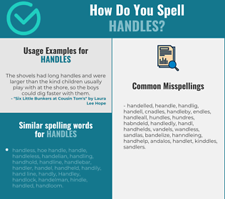 Correct spelling for handles