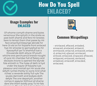 Correct spelling for enlaced