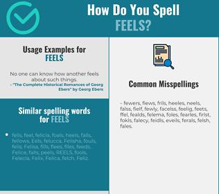 Correct spelling for feels