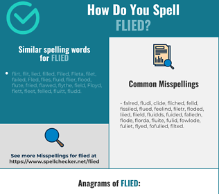 Correct spelling for flied
