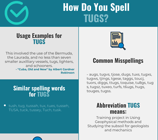 Correct spelling for tugs