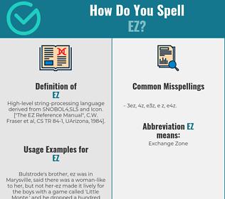 Correct spelling for EZ