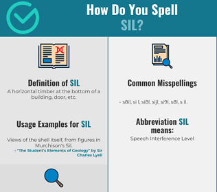 Correct spelling for SIL