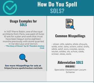 Correct spelling for SOLS