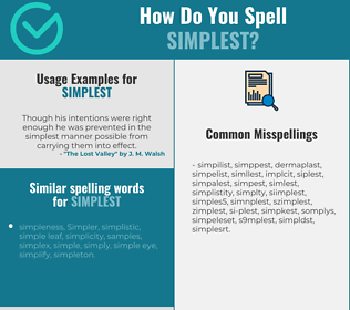 Correct spelling for simplest