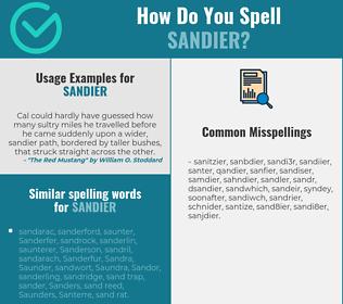 Correct spelling for sandier