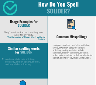 Correct spelling for solider