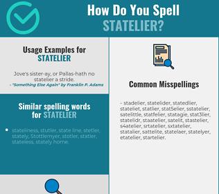Correct spelling for statelier