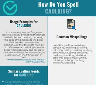 Correct spelling for caulking