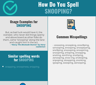Correct spelling for snooping