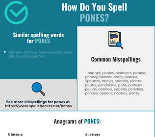 Correct spelling for pones