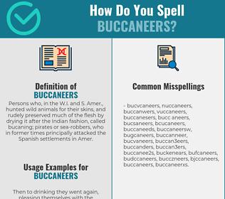 Correct spelling for buccaneers