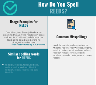 Correct spelling for reeds