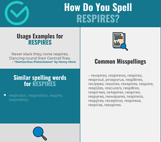 Correct spelling for respires