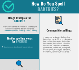 Correct spelling for bakeries