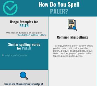Correct spelling for paler
