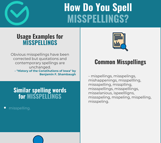 Correct spelling for misspellings
