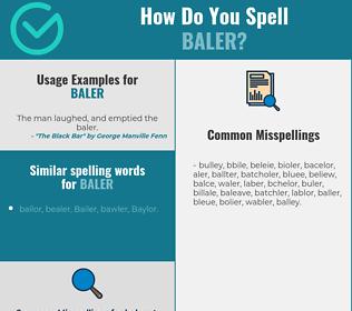 Correct spelling for baler