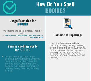 Correct spelling for booing