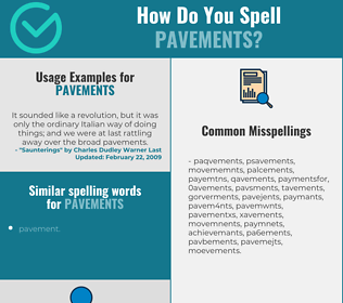 Correct spelling for pavements