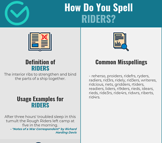 Correct spelling for riders