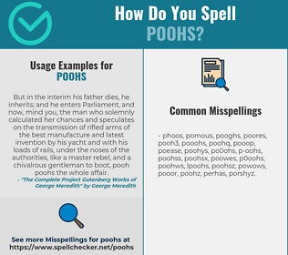 Correct spelling for poohs