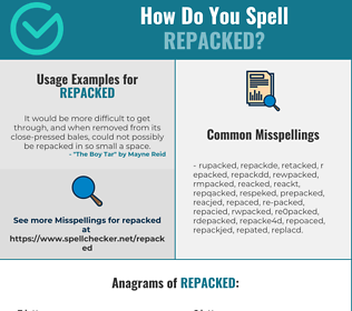 Correct spelling for repacked