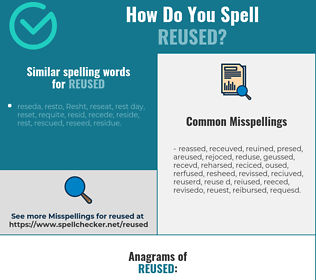 Correct spelling for reused