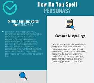 Correct spelling for personas