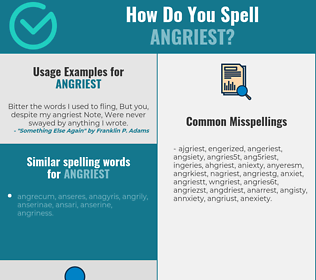Correct spelling for angriest