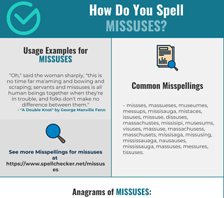 Correct spelling for missuses