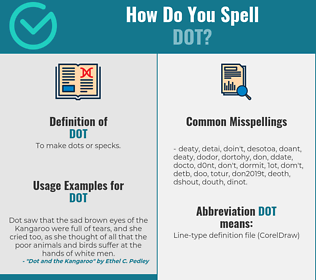 Correct spelling for dot