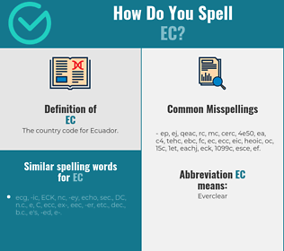 Correct spelling for ec