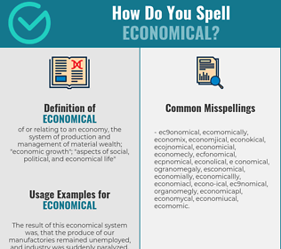 Correct spelling for economical
