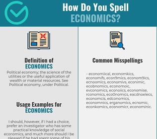 Correct spelling for economics
