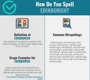 Correct spelling for edinburgh