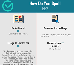 Correct spelling for ee