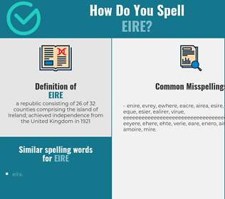 Correct spelling for eire