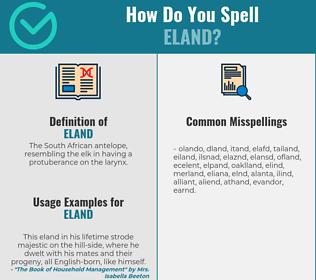 Correct spelling for eland