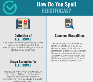 Correct spelling for electrical