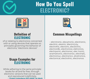 Correct spelling for electronic
