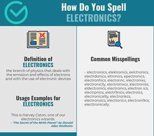 Correct spelling for electronics