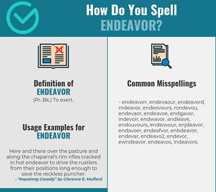 Correct spelling for endeavor