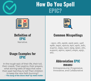 Correct spelling for epic