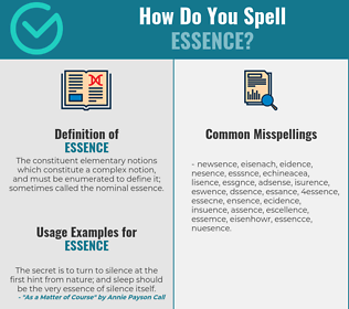 Correct spelling for essence