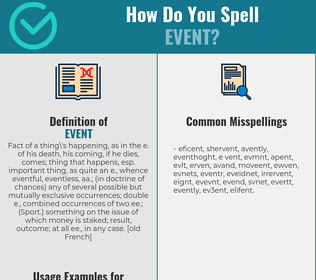 Correct spelling for event