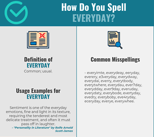 Correct spelling for everyday