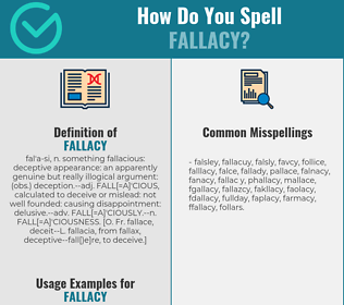 Correct spelling for fallacy